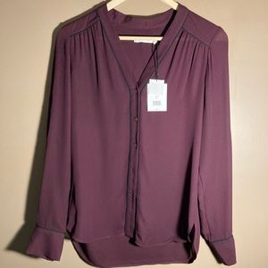 NWT Vince TV 100 % silk blouse shirt